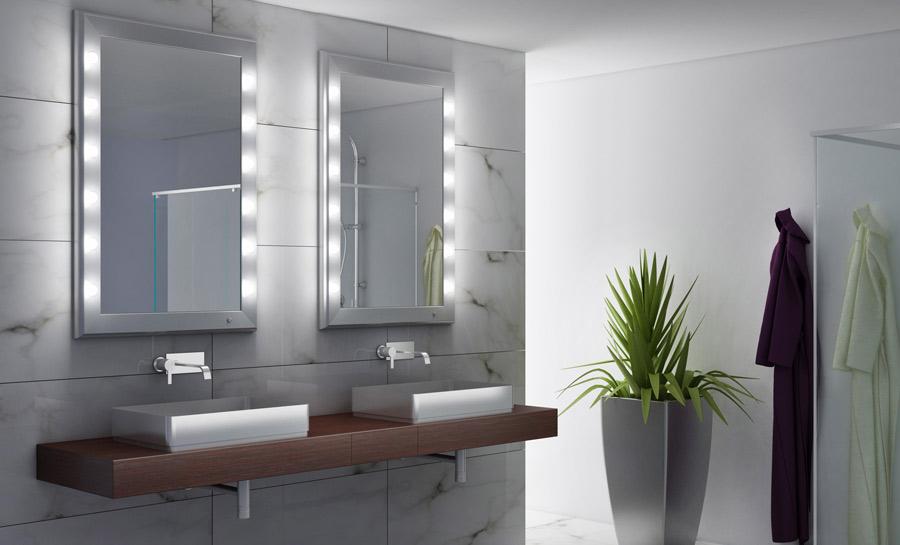 come illuminare lo specchio da bagno
